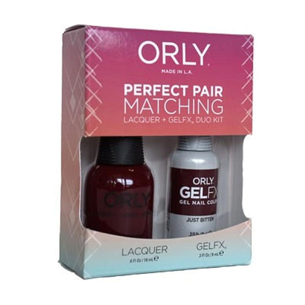 膜結び目分割Orly - Perfect Pair Matching Lacquer+Gel FX Kit - Just Bitten - 0.6 oz / 0.3 oz