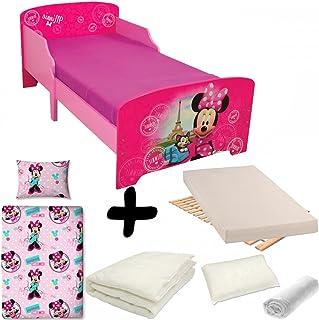 df9a78cfd1a5b BEBEGAVROCHE Pack Complet Lit Paris Minnie Mouse Disney   Lit+Matelas    Parure+Couette