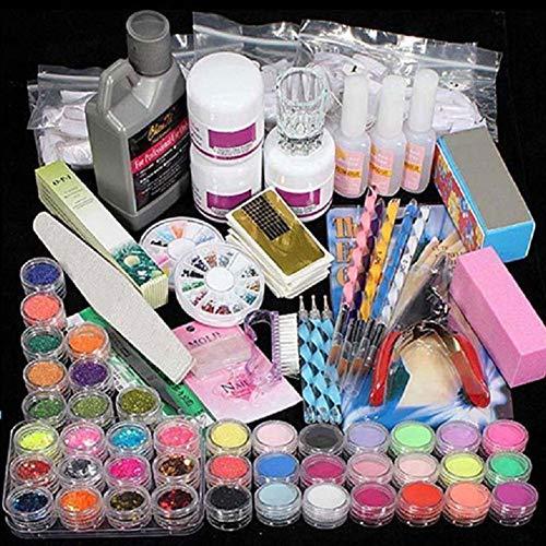 Nail Art Set Professional DIY Acrylic Glitter Powder Liquid Brush Rhinestone Clipper Manicure Nail Art Kit Nail Art Accessories Tool