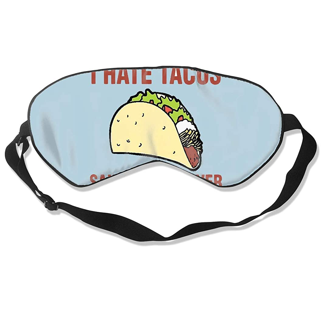 Sleep Eye Mask for Shift Work I Hate Tacos Hotel Sleep for Students Light Blocking Eye Cover Shade Relaxer Sleepfun Protection ujxbcktyrhk56
