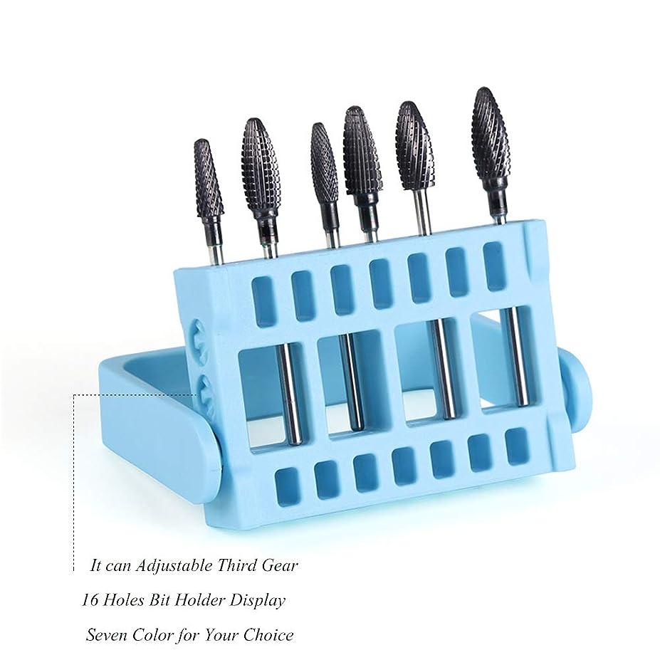 あさりシャッフル内訳1本16穴ネイルドリルビットホルダー展示スタンドディスプレイボックス電気ネイルファイルコンテナマニキュアツール