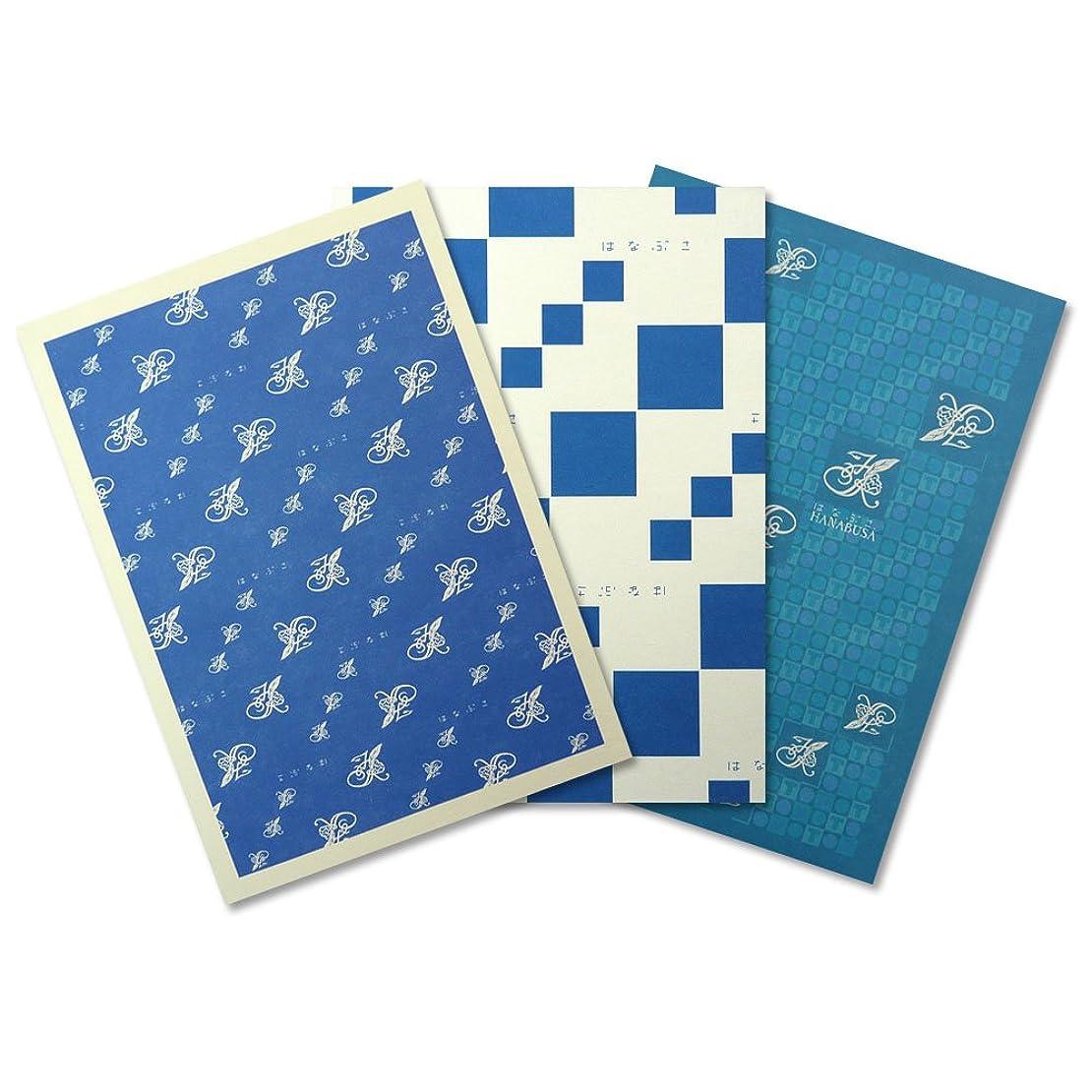 HANABUSA(はなぶさ) B6ノート 3種アソート A:ブルーセット(ライン、ホワイト、TO DO LISTノート 3種類 各1冊 合計3冊セット)