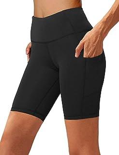 Women's High Waist Yoga Short Side Pocket Workout Tummy...