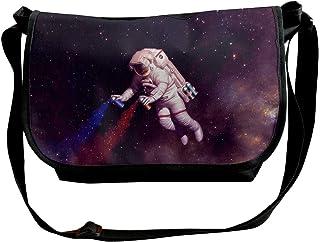 BUGKHD The Astronaut Artist bolsa bandolera de hombro para hombres y mujeres, bolsa de mensajero de moda para ir de compra...