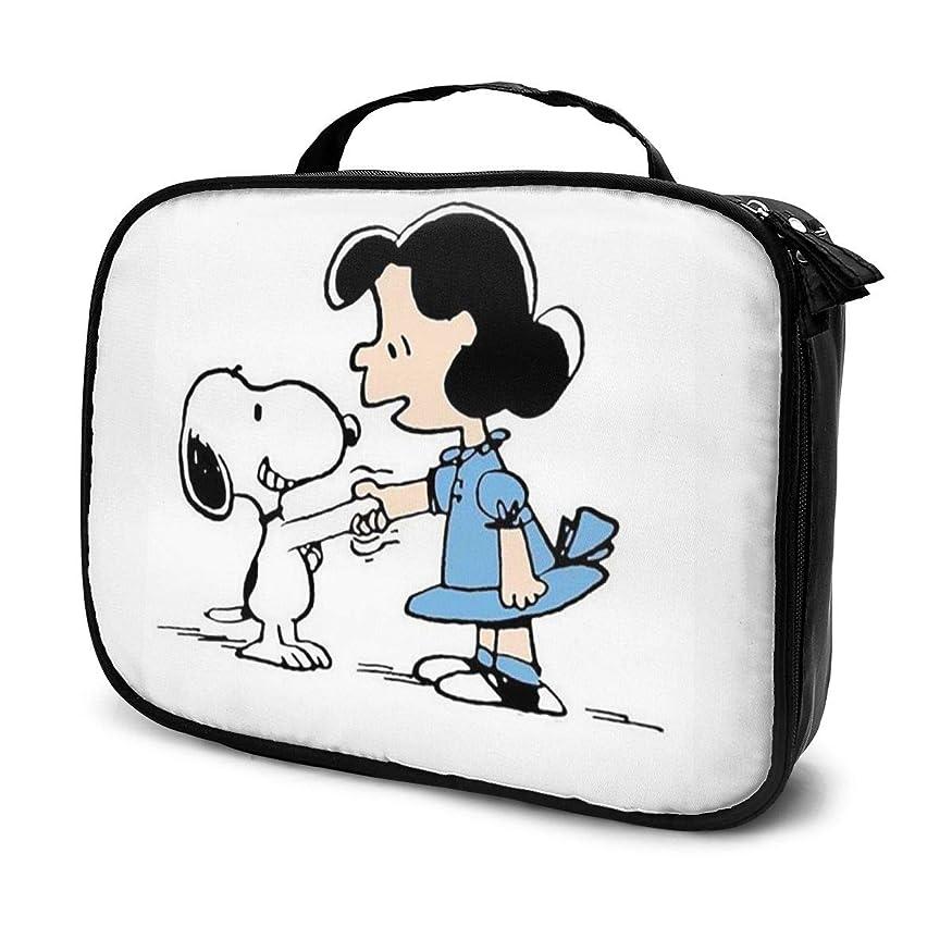 カスタム論理的に受け皿Daituスヌーピー 化粧品袋の女性旅行バッグ収納大容量防水アクセサリー旅行
