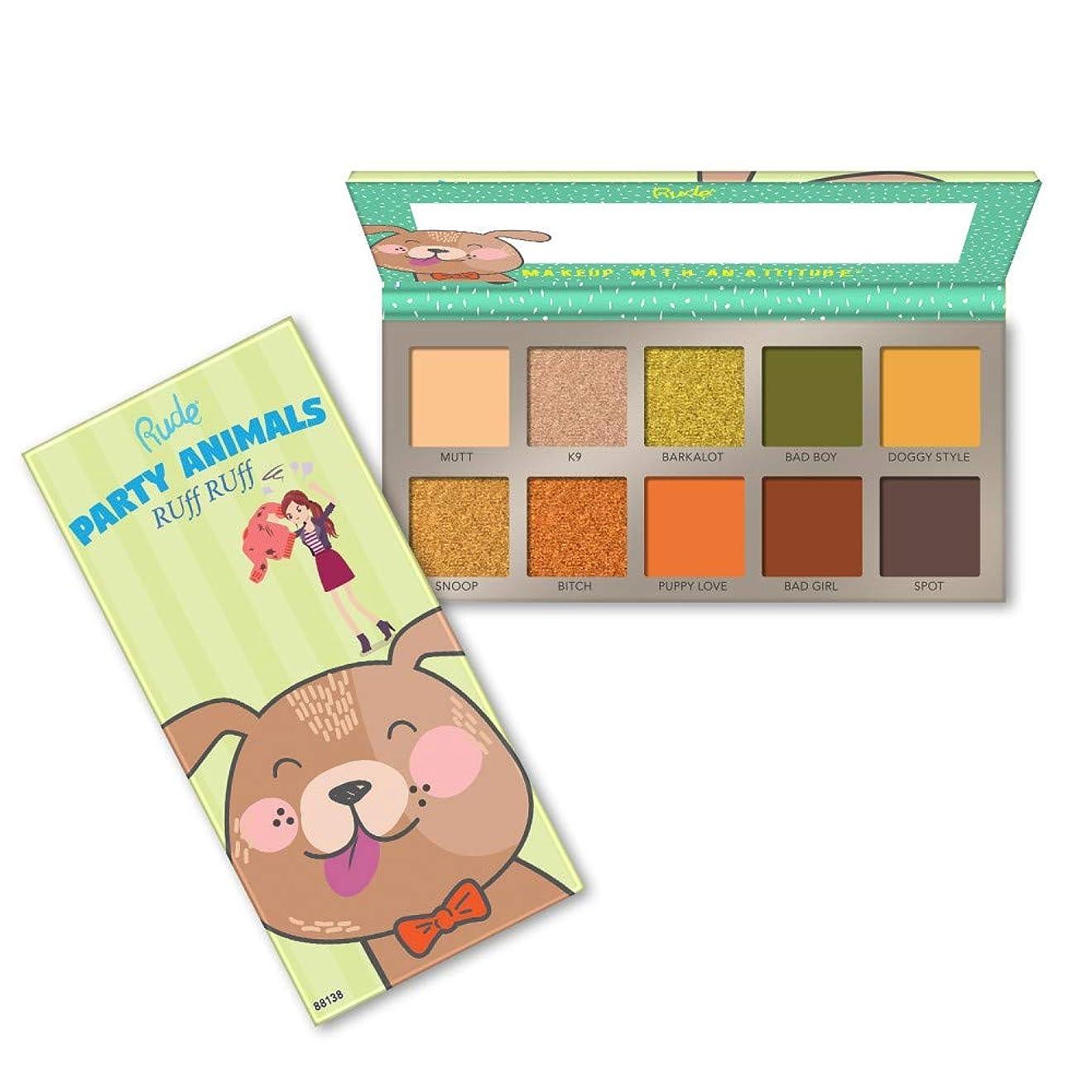 ウェーハ政治的海軍RUDE? Party Animals 10 Eyeshadow Palette - RUff RUff (並行輸入品)