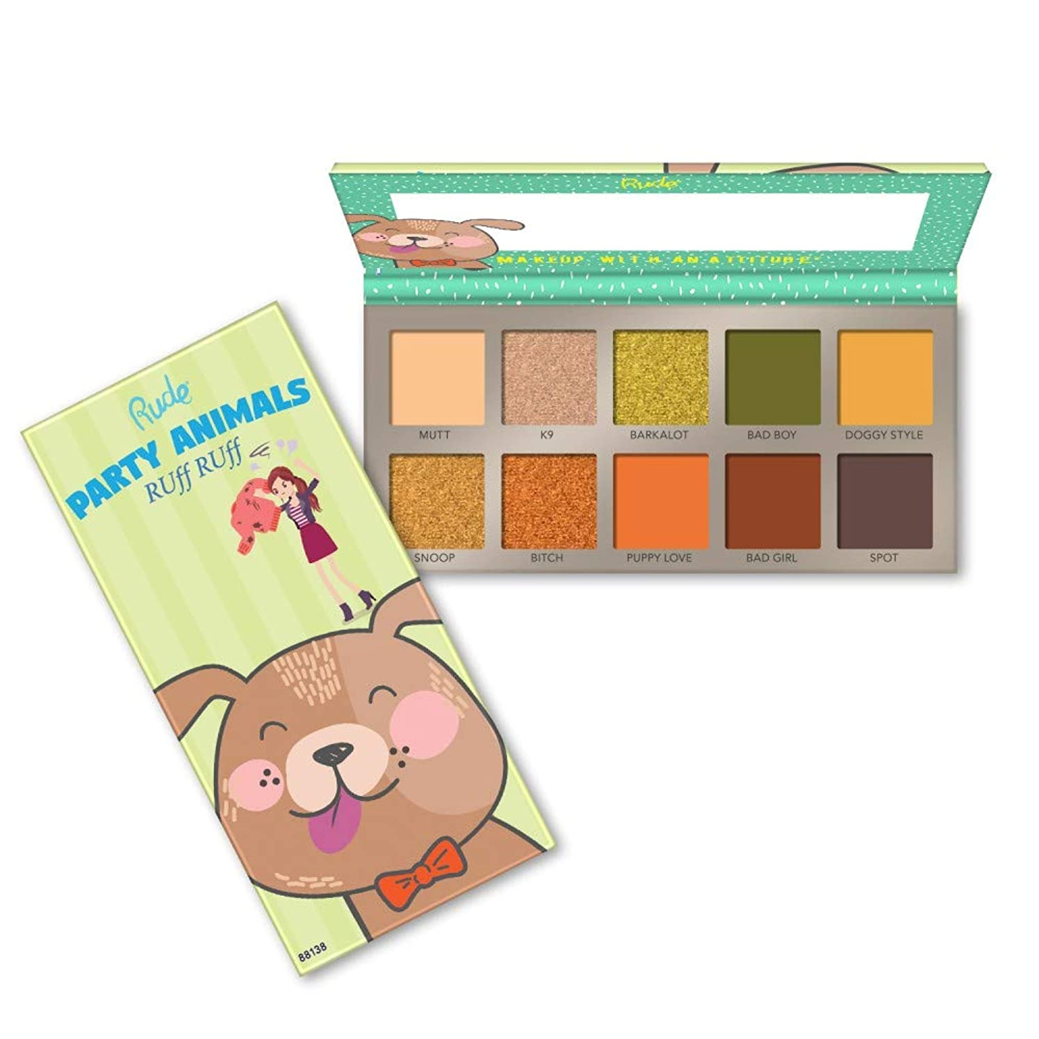 中央値変装した芸術(3 Pack) RUDE? Party Animals 10 Eyeshadow Palette - RUff RUff (並行輸入品)