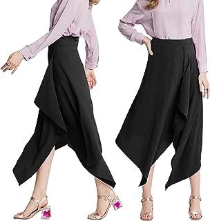 Women's Asymmetrical High Waist Skirt High Low Hem Front Split Flowy Midi Skirts