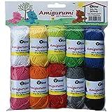 Surtido Amigurumi lana 10knäuel A. 10g, 100% algodón, hilo, punto lana, ganchillo, 2870–01
