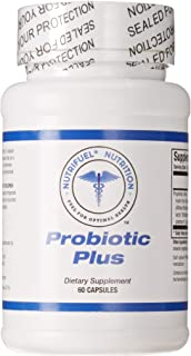 Nutrifuel® Probiotic Plus - Probiotic Supplement- High Potency - Stronger Immune System - Healthy Digestion - Many Health Benefits - Gluten-Free - Non-GMO - 20 Billion Viable Organisms per Capsule