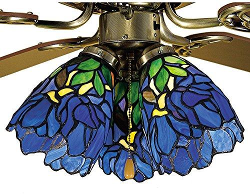 Decorative Ceiling Lighting Tiffany Style Iris Fan Light Shade