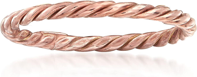 Ross-Simons 18kt Rose Gold Rope Ring