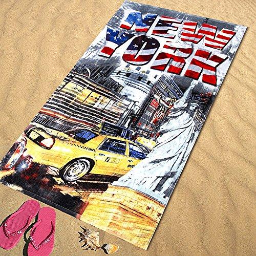 Regalitostv Day of The Dead* Toalla Playa Grande 95 X 175 CM Tacto Terciopelo 100% ALGODÓN (360g) (New York 220)