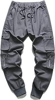 Nantersan Men's Casual Elastic Waist Jogger Pants Cargo Pants Ankle Length Pants