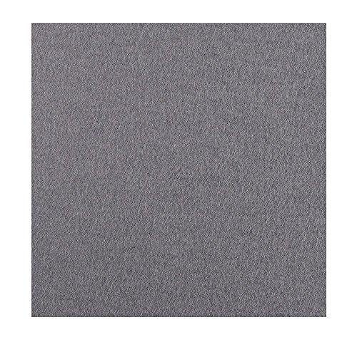 Set de table carré en feutre mérinos - 33 x 33 cm - Épaisseur : 5 mm, feutrine, Colombes gris uni, 33 x 33 cm