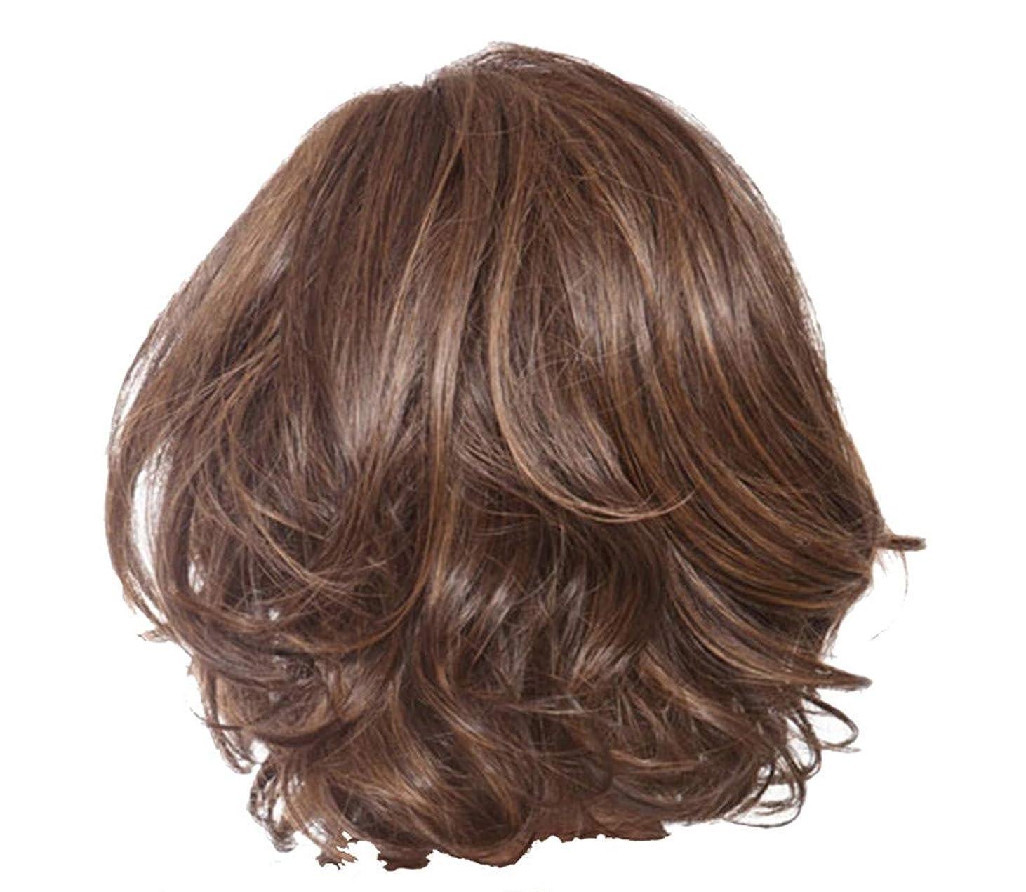 貢献協同ウェイトレスウィッグ女性のセクシーな短い巻き毛のかつらクールなハンサムなかつら36 cm