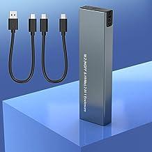 Cajas para Discos Duros M.2 NVME y SATA SSD, USB 3.1 Gen2 to NVME PCIE Unidad de estado sólido Carcasa externa, 6Gbps SATA...