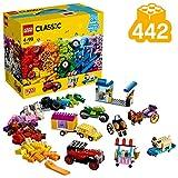 LEGO Classic MattoncinisuRuote, Set di Costruzioni, Mattoncini Colorati per Veicoli con Pneumatici e Ruote(422Pezzi), 10715