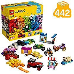 Build all kinds of toy vehicles, from a wheelchair or horse and cart to a four x four car with a caravan trailer This LEGO Classic construction set facilitates a world of creativity for Kids, fostering their open-ended imagination It also includes a ...