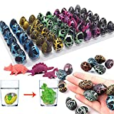 iGeeKid 60 Pack Easter Dinosaur Eggs Hatching Dino Egg Grow in Water Crack with Assorted Color Hunting Game Easter Basket Stuffers Birthday Easter Gifts Party Favors for Toddler Kids 3-10 Boys Girls