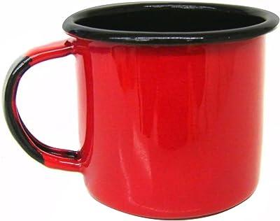 Metallouça, 54, Caneca Xícara de 70 ml Chá Café Esmaltadas Agata Cozinha Vermelha, cor Vermelho, Aço