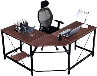 Sponsored Ad - Soges L Shaped Desk Corner Computer Desk Gaming Table Office Workstation Desk, Walnut LD-Z01WA