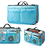 GEARONIC TM Lady Women Travel Insert Organizer Compartment Bag Handbag Purse Large Liner Tidy Bag - Blue