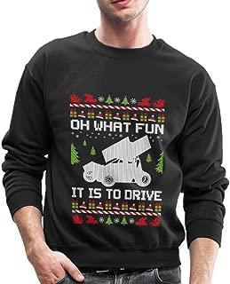 Sprint Car Ugly Christmas Crewneck Sweatshirt