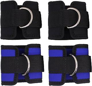 SENHAI 4 قطع أحزمة للكاحل للياقة البدنية، أحزمة كاحل قابلة للتعديل لممارسة الرياضة الكابلات، تمارين البطن للساق بعقب غراء ...