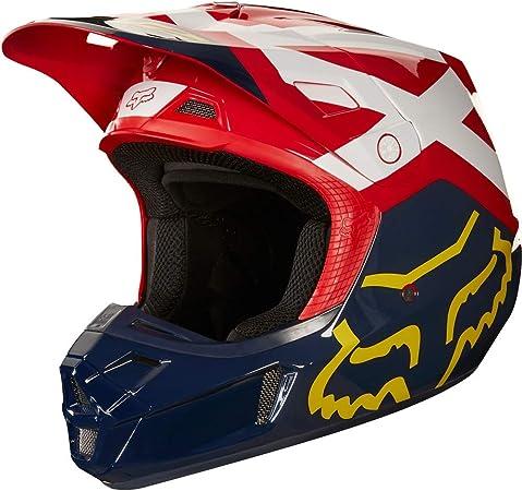 Fox Helmet V 2 Preme Ece Navy Red Auto