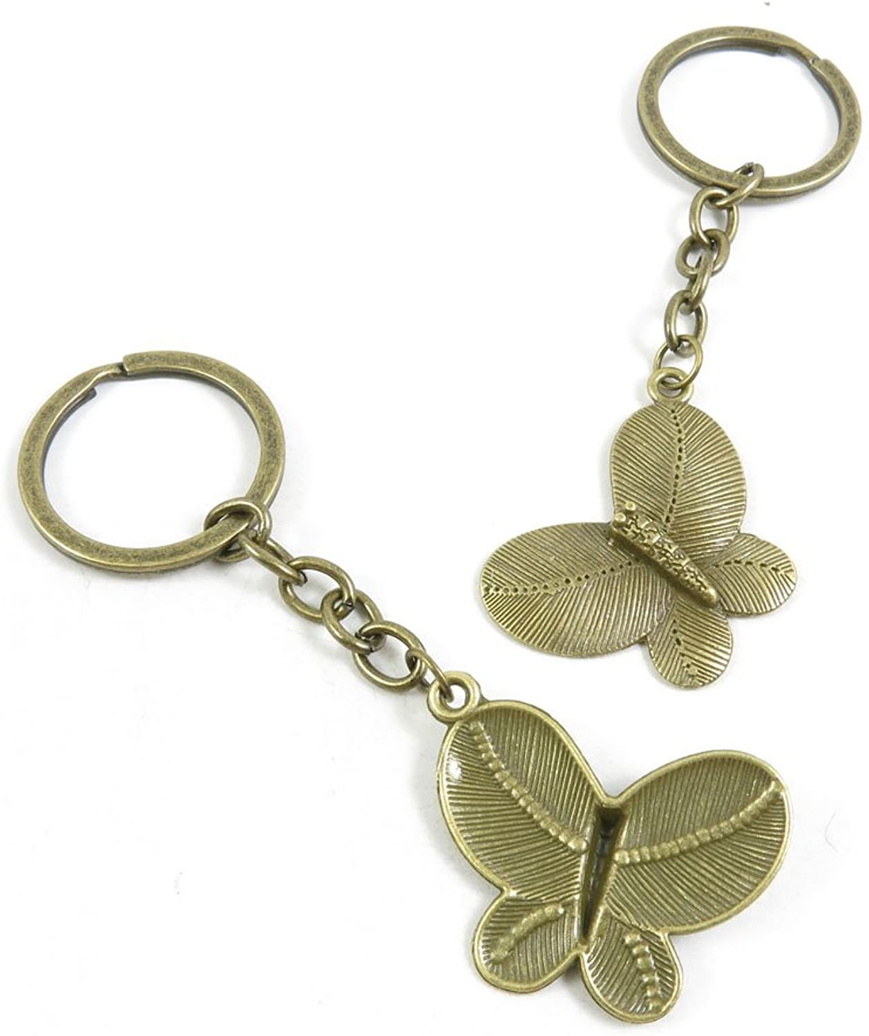 140 Pieces Fashion Jewelry Keyring Keychain Door Car Key Tag Ring Chain Supplier Supply Wholesale Bulk Lots S8HI5 Butterfly