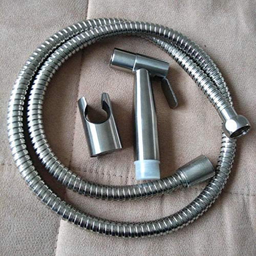 LONGWDS Kit de spray de bidé de mano de acero inoxidable 304 Bidet Toilet Companion Pistola rociadora bidé pulverizador fuerte accesorio de ducha de agua