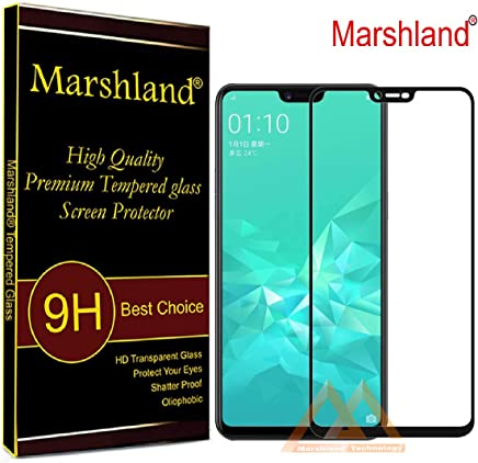 Marshland Full Glue 6D Anti Scratch Bubble Free Oleo Phobic Coating Screen Protector Tempered Glass for Realme C1 (2019)