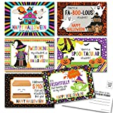 Happy Halloween Themed Blank Postcards For Teachers To Send To Students, 4'x6' Fill In Notecards (6 different designs) by AmandaCreation (30)