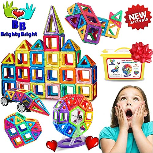 BrightyBright Toys Magnetic Blocks Tiles...