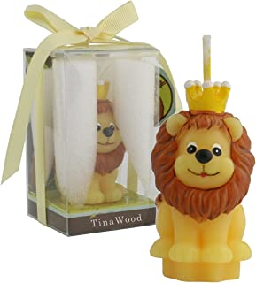 TinaWood Cute Cartoon Birthday Candle, Smokeless Cake Candles Home-Made Cake Topper, Great Decoration for Home Party Children's Day (Lion)