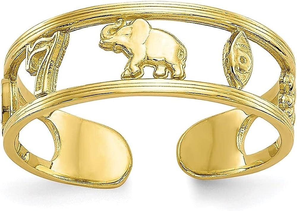 Diamond2Deal 10k Yellow Gold Luck Toe Ring for Women
