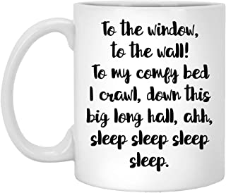 Mom Life Mug - My Comfy Bed I Crawl - 11 oz White Coffee Cup - Cute Fun - Novelty Gift Idea - 100919