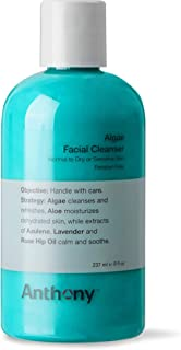 Sponsored Ad - Anthony Algae Facial Cleanser, 8 Fl Oz. Contains Algae, Aloe Vera, Azulene, Lavender and Rose Hip Oil, Clea...