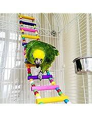 Climbing Ladder Giocattolo in Legno per Pappagallo cacatua parrocchetto Budgie Cockatiel Macaw Africano Grigio Topo, Copertina Topi Chinchilla cavia Gabbia persico