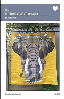 paper pieced elephant
