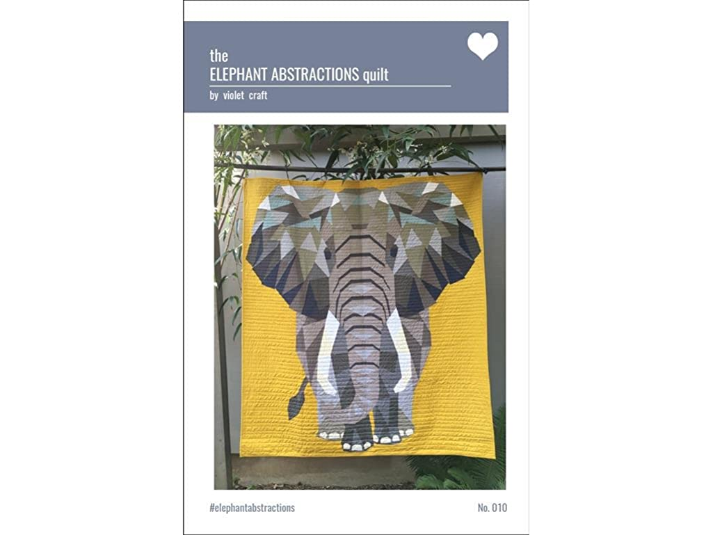 Violet Craft Abstractns Elephant Abstractions Quilt Ptrn