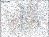 DFW Regional Area Major Arterial Wall Map 42'H x 52'W (Laminated)