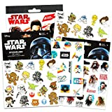 Star Wars Stickers Party Favors ~ Set of 2 Sticker Packs ~ Bundle Includes 18 Sheets over 350 Stickers plus Star Wars Tattoos -Darth Vader, Storm troopers, Chewbacca