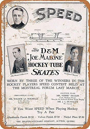 SLALL Hockey Skat Metal Tin Sign Home Garage Bar Supplies...