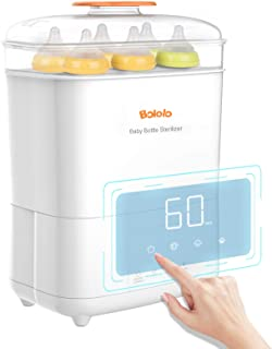 Bololo Baby Bottle Electric Steam Sterilizer and Dryer with LED Panel Touch Screen, Drying time Control and only Drying Fu...