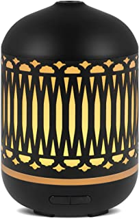 InnoGear Iron Cover Aromatherapy Essential Oil Diffuser Ultrasonic Cool Mist Humidifier with Candle Light Effect 7 Color LED Nightlight Waterless Auto Shut-off for Home Yoga Spa Office