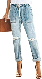 MogogoWomen Denim Fashional Lounge Long Pants Straight Denim Pants