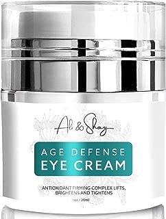 Anti Aging Eye Gel - Vitamin C + CoQ10 + Retinol + Hyaluronic Acid + Aloe + Green Tea - Cream for Dark Circles, Bags, Wrinkles & Puffy Under Eyes - 100% Natural & Organic Wrinkle Treatment - 1oz