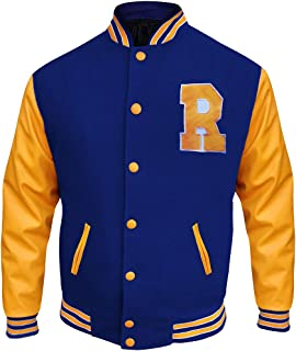 Blue and Yellow Bomber K.J APA Varsity Jacket
